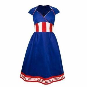 MARVEL Captain America Retro Dress Pinup Cosplay